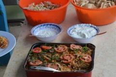 La famiglia Nassar prepara sempre ottimi pranzi per i volontari!
